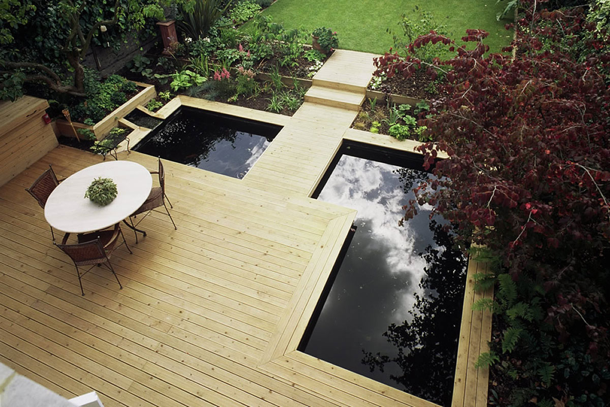 how to make modern fish pond